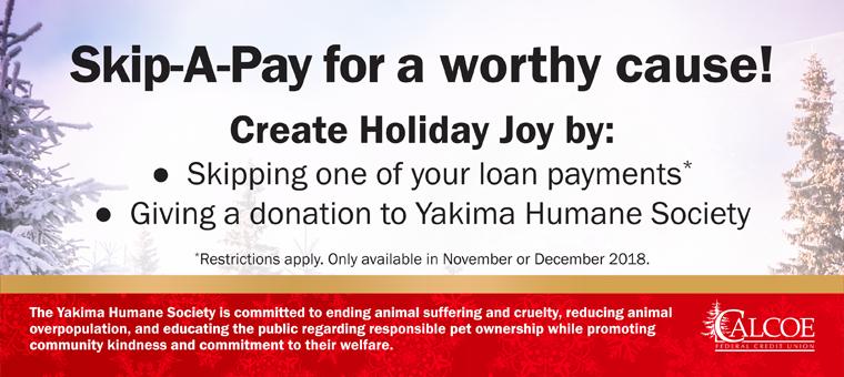 Skip-A-Pay Benefits the Yakima Humane Society