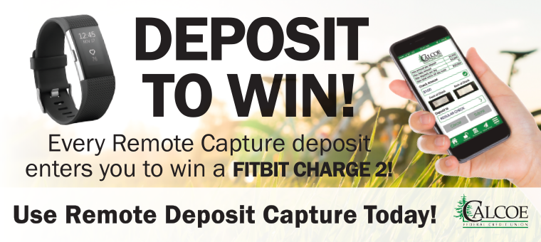 Deposit Your Check with RDC to be Entered to Win!